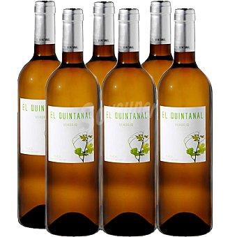 EL QUINTANAL Vino blanco verdejo D.O. Rueda caja 6 botellas 75 cl