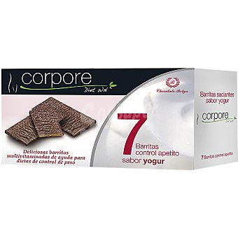CORPORE DIET Barritas saciantes multivitaminadas sabor yogur Envase 160 g