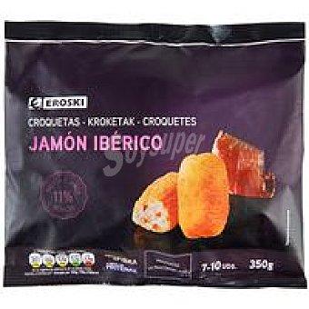 Eroski Croquetas de jamón ibérico Bolsa 350 g