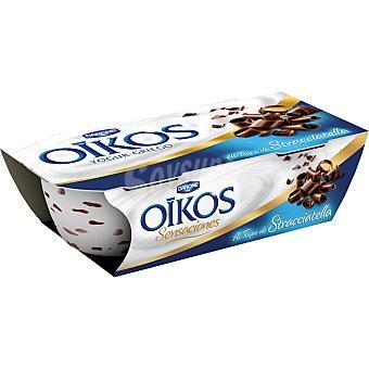 Griego Danone Yogur griego con Straciatella 2 Unidades de 115 Gramos