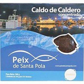 Santa pola Caldo de caldero concentrado Pack 2x250 ml