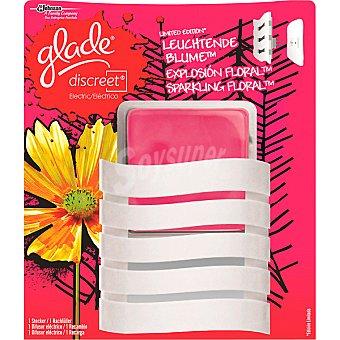 Glade Discreet Brise Discreet ambientador electrico Explosion Floral aparato + recambio