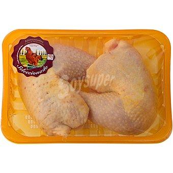 EL CORTE INGLES Muslos de pollo de corral peso aproximado bandeja 500 g