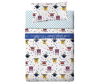 Super wings Juego de sábanas de 3 piezas 50% algodón con estampado infantil WINGS.