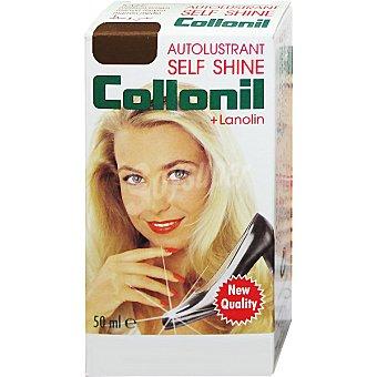 COLLONIL Self Shine Limpia calzado líquido marrón oscuro Botella 50 ml