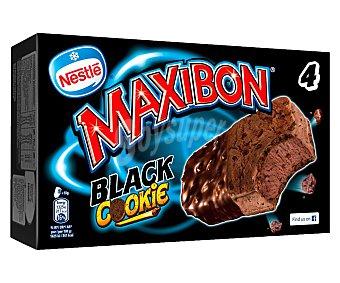 Maxibon Nestlé Sandwiches de chocolate negro con trocitos de cookies Pack 4 x 150 ml