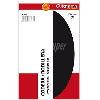 GÜTERMANN Gutermann set 2 coderas/rodilleras en color negro