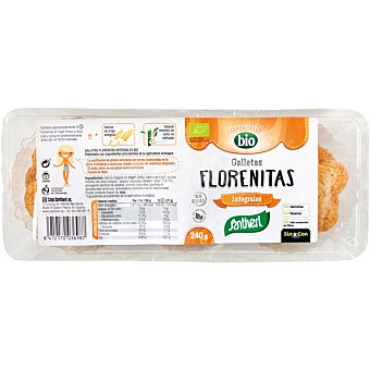 SANTIVERI Florenitas galletas integrales ecológicas sin huevo sin lactosa paquete 240 g paquete 240 g