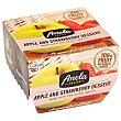 Postre de manzana y fresa sin azúcar añadido Fruits Pack de 2 unidades de 100 g Anela