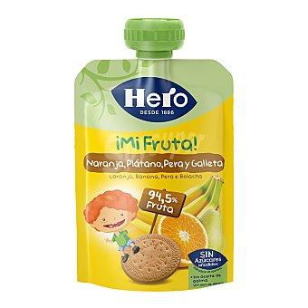Hero Nanos Bolsita de fruta (naranja, plátano y galletas) a partir de 12 meses Paquete 100 g