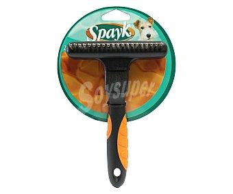 Spayk Cepillo rastrillo con cabezal flotante y 20 dientes para perros 1 ud