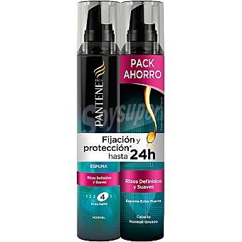 Pantene Pro-v espuma Rizos Definidos y Suaves fijación extra fuerte pack ahorro pack 2 spray 200 ml
