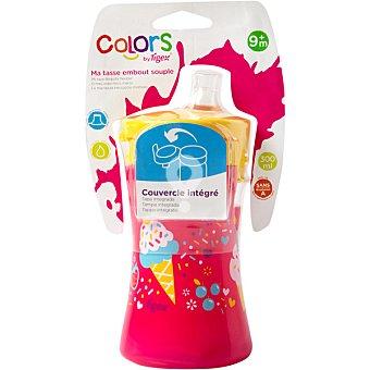 Taza Cupcakes con boquilla flexible de silicona con tapa integrada +9 meses