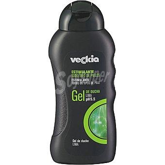Veckia gel de baño estimulante masculino con lima pH 5.5 para todo tipo de piel Bote 300 ml
