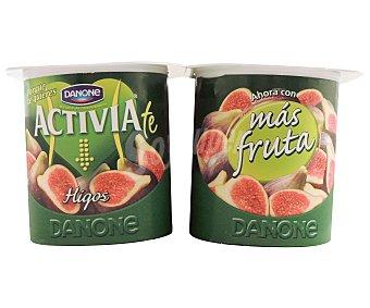 Danone Yogur bífidus activia con trozos de higos  Pack 4 x 120 g - 480 g