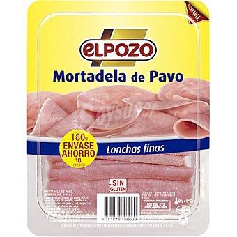 ElPozo Mortadela de pavo lonchas finas envase recerrable 180G