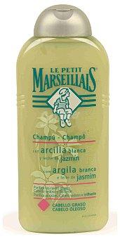 Le Petit Marseillais Champú con arcilla blanca, purifica las raíces grasas 300 Mililitros