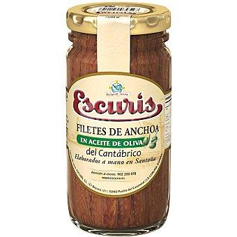 ESCURIS Filetes de anchoa en aceite de oliva del Cantábrico tarro 55 g neto escurrido Tarro 55 g neto escurrido