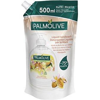 Palmolive Naturals jabón líquido de manos con leche de almendras doypack recambio  500 ml