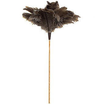 Mirko Plumero de avestruz con varilla de madera 60 cm 1 unidad