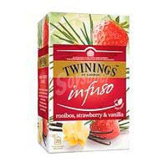 Twinings Infusión rooibos-strawberry&vanilla twinings Caja 20 uds