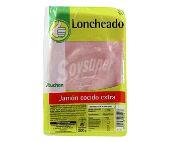 Productos Económicos Alcampo Jamón cocido extra 200 gramos