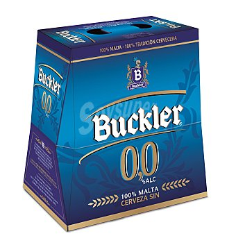 Buckler Cerveza sin alcohol 0% Pack de 6 botellas de 25 cl