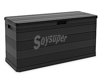 Toomax Arcón de resina color negro para jardín, 320 litros de capacidad, 56x117x45 centímetros, modelo Multibox 1 unidad