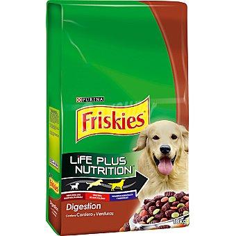 Friskies Purina Alimento para perros con cordero y verduras Digestión Paquete 10 kg
