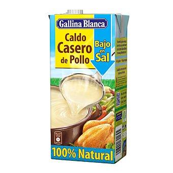 Gallina Blanca Caldo de Pollo Bajo en Sal 100% Natural Brick 1 l