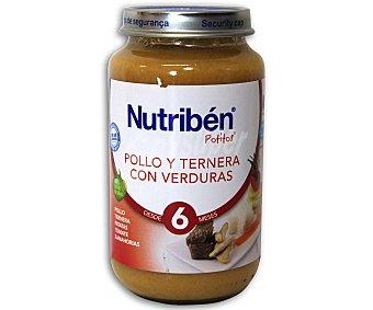 Nutribén Potito de pollo, ternera con verduras 250 g