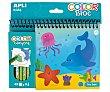 Bloc para colorear con temática de animales marinos. Incluye 4 ceras de colores. Contiene 45 páginas para colorear. APLI.  APLI