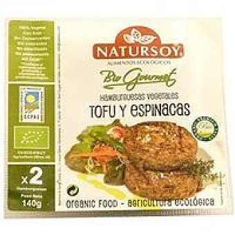 Natursoy Hamburguesa de tofu-espinacas Paquete 150 g