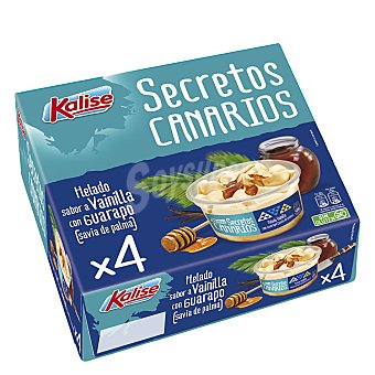 Kalise Vasitos de helado de vainilla y guarapo sin gluten 4 ud