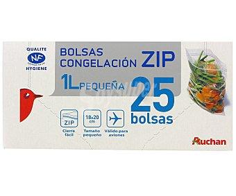 Auchan Bolsa Congelación Pequeña Cierre Zip 25 Unidades