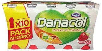 Danone Yogur liquido danacol fresa (reduce el colesterol) Botellin pack 10 x 100 g - 1 kg