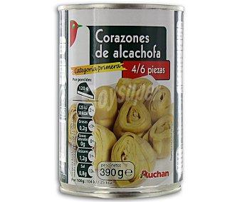 Auchan Corazones de alcachofa 240 gramos peso escurrido