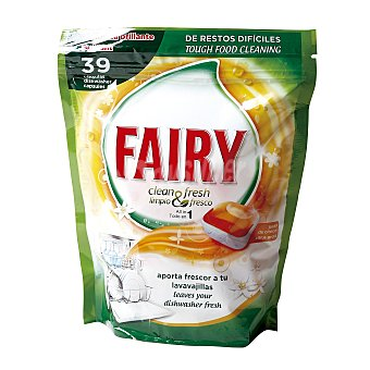 Fairy Detergente Lavavajillas Clean&Fresh 39 dosis