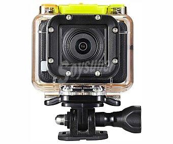 QILIVE SPORT FULL HD Videocámara deportiva resistente al agua, definición Full HD , wifi integrado, mando a distancia