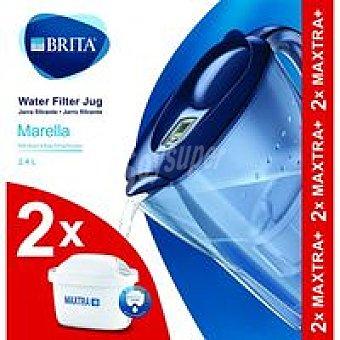 Brita Jarra Marella azul con 2 filtros Maxtra 1 uds