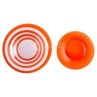LUMINARC Seasons Vajilla de vidrio 18 piezas para 6 servicios en color naranja