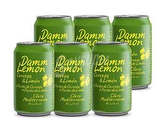 Damm Lemon Cerveza con limón Pack 6 latas x 33 cl