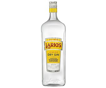 Larios Ginebra española tipo London dry gin Botella de 1 litro
