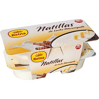 Postres Reina Natillas de leche merengada Pack 4 unidades 125 g