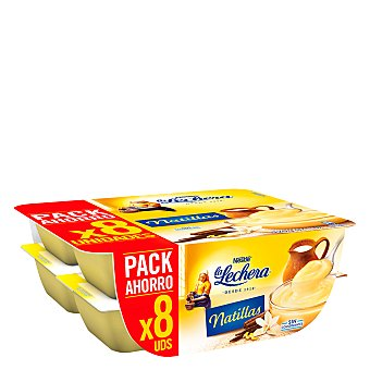 La Lechera Nestlé Natillas vainilla Pack 8 ud