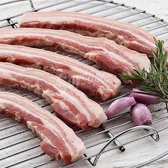 Panceta de cerdo con costilla fresca