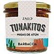 Migas de atún en salsa barbacoa Tunakitos Frasco 220 g Zallo