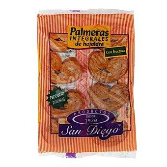 SAN DIEGO Palmeras integrales de hojaldre sin azúcar 250 g