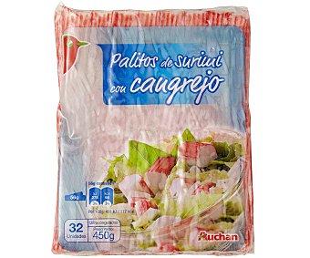 Auchan Palitos de surimi con cangrejo 450 gramos