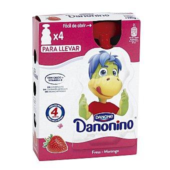 Danonino Danone Yogurt para llevar sabor fresa Pack 4 u x 70 g